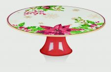 Premier Footed Cake Plate - Poinsettia 29 x 10cm