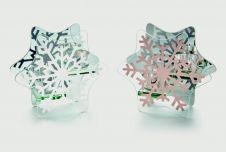 Premier Glass Candle Holder - Snowflake 17 x 15cm