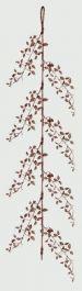 Premier Glitter Leaf Garland - Rose Gold 150cm