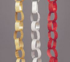Premier Glitter Paper Chain Assorted - 2.7m
