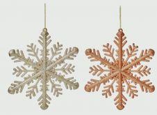 Premier Glitter Snowflake - 30cm Rose Gold