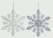Premier Glitter Snowflake 30cm - Silver Or White