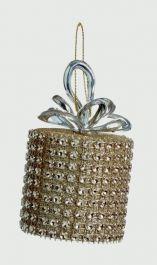 Premier Gold Diamanted Round Parcel Trim - 6cm