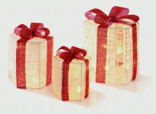 Premier Hexagonal Parcels With Bows - 3 Piece Cream Red
