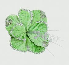 Premier Hibiscus Flower - 20cm Green