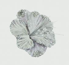 Premier Hibiscus Flower - 20cm Grey