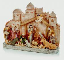 Premier Holy City Nativity Scene - 28 x 34cm