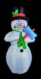 Premier Inflatable Shivering Snowman - 2.1m