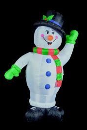 Premier Inflatable Snowman With Top Hat - 2.4m