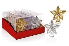 Premier Jewel Tree Top Star - Gold & Silver 15cm