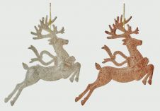 Premier Leaping Reindeer 28 x 21 - Champagne Or Gold