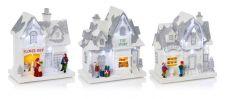 Premier Lit White Christmas Shop - 20cm 3 Assorted Designs