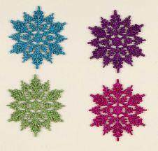 Premier Multi Colour Snowflakes In CDU - 10 Piece