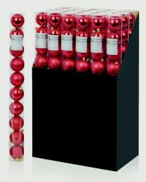Premier Multi Finish Baubles 10 x 60mm - Red