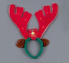 Premier Musical Light Up Antlers Red/Green - 40cm