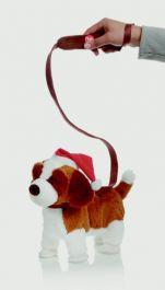 Premier Musical Walking Dog With Santa Hat - 26cm