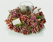 Premier Natural Cone Wreath - 25cm