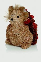Premier Natural Sitting Hedgehog - 13 x 13cm