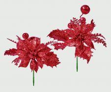 Premier Poinsettia Pick - Red