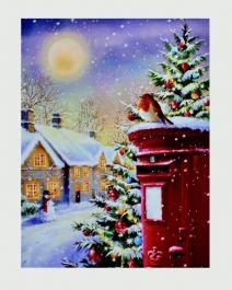 Premier Postbox Lit Canvas - Fibre Optic 40 x 30cm