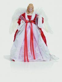 Premier Red & White Dressed Angel - 40cm