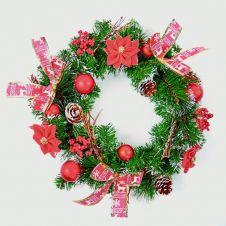 Premier Red Dressed Wreath - 40cm