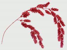 Premier Red Glitter Pine Cone Spray - 69cm