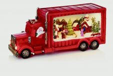 Premier Red Truck With Christmas Tree Scene - 33.5cm