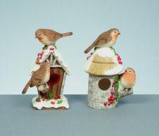 Premier Robin On Bird House Polyresin