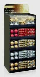 Premier Rose Gold Silver Shatterproof Baubles - 107 Piece Display Unit