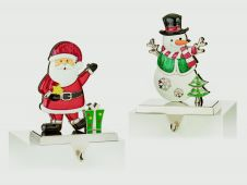 Premier Santa Snowman Stocking Hanger - 17cm