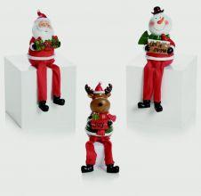 Premier Santa With Dangly Legs - 10cm