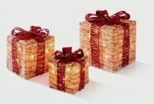Premier Script Parcels With Red Ribbon - 3 Piece
