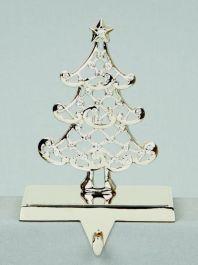 Premier Silver Crystal Tree Stocking Holder - 18cm