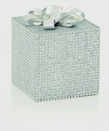 Premier Silver Sparkle Present Bow - 12cm