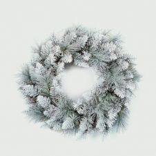 Premier Silver Tip Wreath - 50cm
