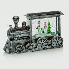 Premier Silver Train Water Spinner White LED - 29cm