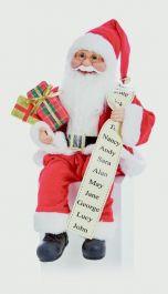 Premier Sitting Santa With Glasses - 40cm Red