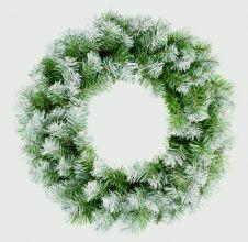 Premier Snow Tips Wreath - 50cm