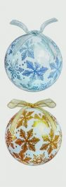 Premier Snowflake Baubles - 75mm Gold/Silver Assorted