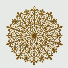 Premier Snowflake Placemat Glitter - Gold 39cm
