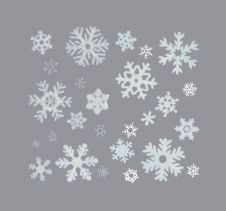 Premier Snowflakes Window Sticker - 40cm