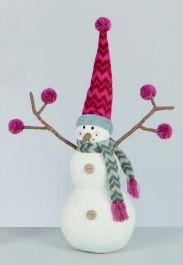 Premier Snowman With Twiggy Arms - 29cm
