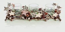 Premier Sparkle Twig 3 Tealight Holder - 31x12cm