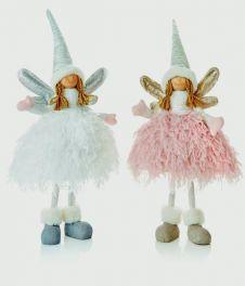 Premier Standing Angel - 45cm Pink White