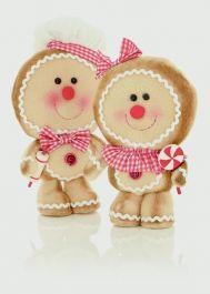 Premier Standing Gingerbread Boy/Girl - 33cm