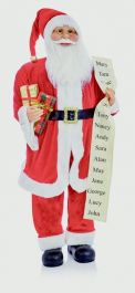 Premier Standing Santa With Glasses - 1m Red