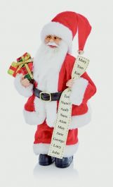 Premier Standing Santa With Glasses - 30cm Red