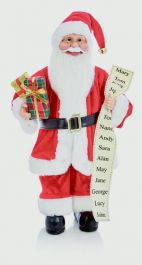 Premier Standing Santa With Glasses - 40cm Red