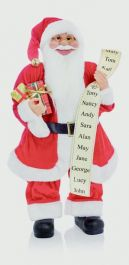 Premier Standing Santa With Glasses - 60cm Red